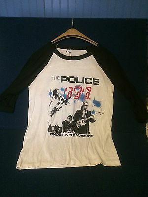 The Police Original Ghost In The Machine 1982 Canadian Tour Shirt Size Large