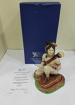 """Peggy Davies """"indian Brave Kosumi"""" Limited Edition Of 250 – Boxed + Certificate"""