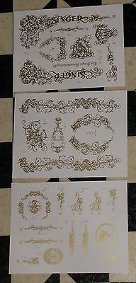 Waterslide Replacement Decals for Antique Singer Sewing Machine, IF Fiddle Base