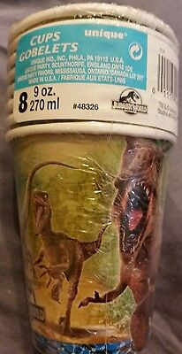 2 packs of Jurassic World Party Nine Ounce Paper Cups, pack of 8, total 16 cups