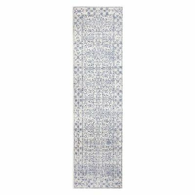 NEW Rug Culture Jerez Oriental Runner Rug, White