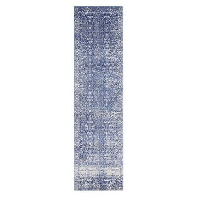 NEW Rug Culture Cedres Oriental Runner Rug in Grey, Multi-Coloured, Silver