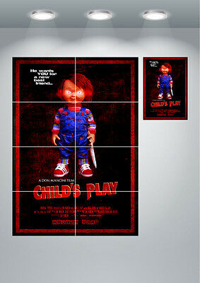 Child's Play Chucky Classic Movie Large Wall Art Poster Print
