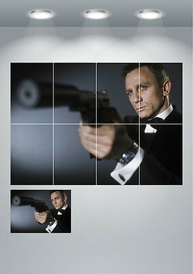 James Bond 007 Movie Poster Daniel Craig Large Wall Art Poster Print
