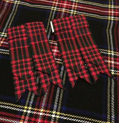 Kilt Sock Flashes Macdonald Tartan/Scottish Highland Kilt Hose Flashes/flashes