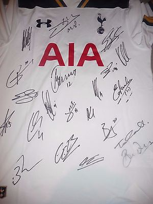 Tottenham Hotspur Fc Spurs Squad Hand Signed Official Shirt Signed By 21
