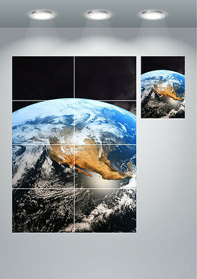 Planet Earth From Space Large Wall Art Poster Print
