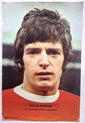Manchester United 1970's Coffer Poster Willie Morgan Number 156