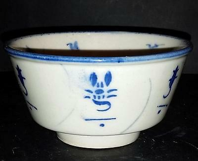 Antique Chinese Ming Dynasty Blue And White Bowl