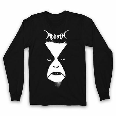 ABBATH Face Long Sleeve T SHIRT S-M-L-XL-2XL New Black Metal Official Kings Road