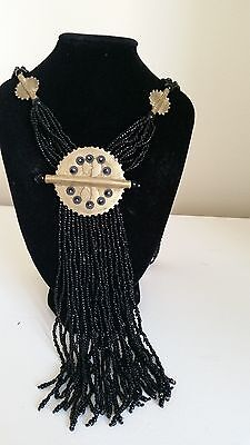 Handmade African Ethnic beads long necklace jewellery - n23
