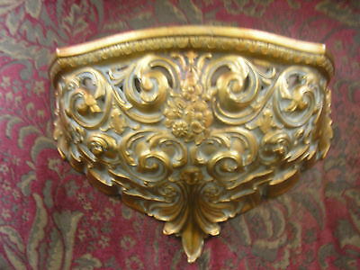 Vntg Cameo Creations Ornate Gothic Victorian Figural Wall Sconce Pocket Planter