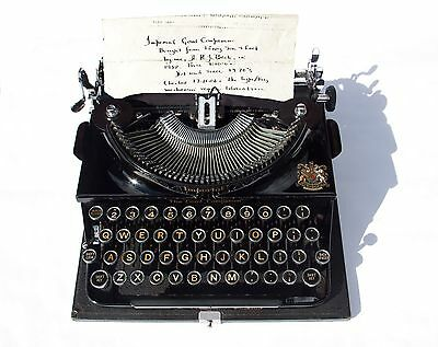 Original 1938 Imperial Typewriter - made in England - in full working condition