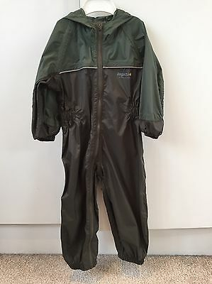 Regatta Green Waterproof All-in-one Hooded Overalls 18-24 Months