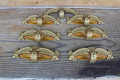 Lot Of 6 + 1 Antique Furniture Drawer Pulls  Art Deco Style Art Nouveau Bakelite