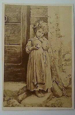 Victorian Card, I call 'Rags to Riches' Lovely Unkempt Child/Buckingham  Palace