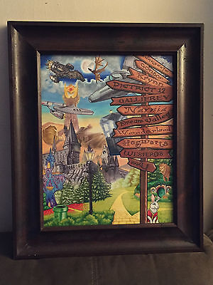 CROSSROADS of the MULTIVERSE Original Drawing Hogwarts Star Wars Doctor Who