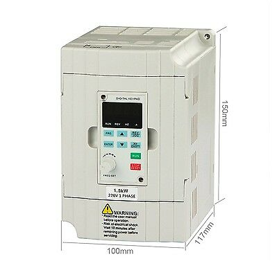 LAPOND VFD Drive VFD Inverter Professional Variable Frequency Drive 1.5KW 2HP...