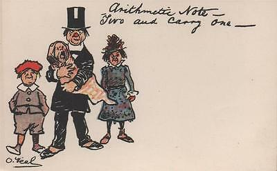 Artist Signed O'neal Arithmetic Note Two & Carry One Comic Children