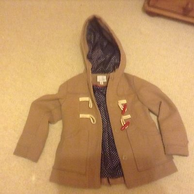 girls Next perfect duffle hooded lined coat  size 7-8 years