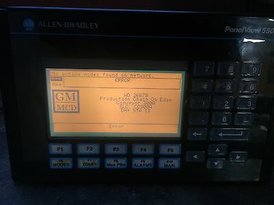 """Allen Bradley PanelView 550  """"B series""""  Rev-D 2711-K5A5 Used good Working Cond"""