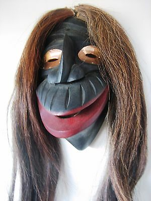 Iroquois False Face (Broken Nose) Mask by Todd Longboat, signed, Six Nation, ON