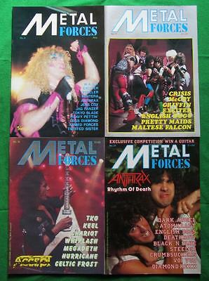 METAL FORCES: A Lot Of 4 Magazines 1984-87 Anthrax / Twisted Sister / Accept
