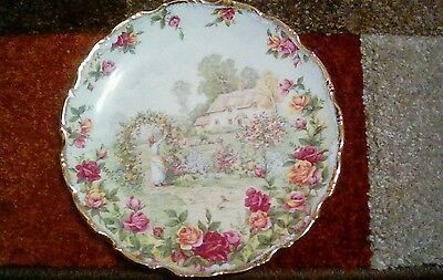 """Royal Albert Cabinet Plate """"Old Country Roses Garden"""""""