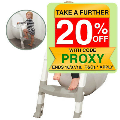 Potty Time Ultimate Toilet Trainer Seat/Ladder Toddler/Kids Training Step White