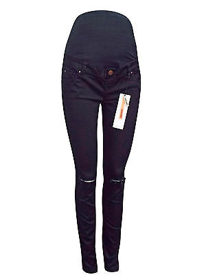 New Look Maternity Over Bump Black Super Skinny Ripped Jeans Size 8-20 New