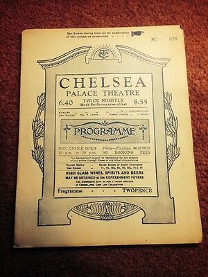 1933 Chelsea Palace Theatre The Beggars Opera 8 Page Programme