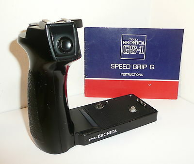 GENUINE BRONICA GS-1 SPEED GRIP G with INSTRUCTIONS , WORKING WELL & CLEAN !!