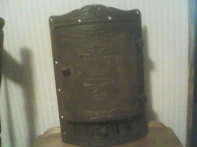 Antique Cast Iron Burnet Wood Stove Door