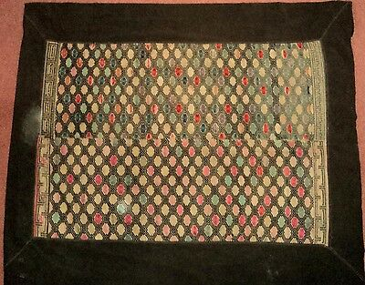Thailand  / Laos Rare Black Cotton Chinese Hill Tribe Marriage Quilt Large 125cm