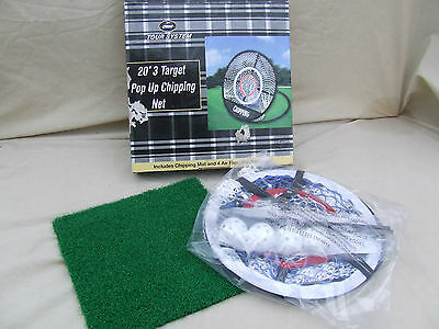 "20"" Golf Pop Up Chipping Net By Crane Tour System,mat,net And 4 Balls,new Boxed"