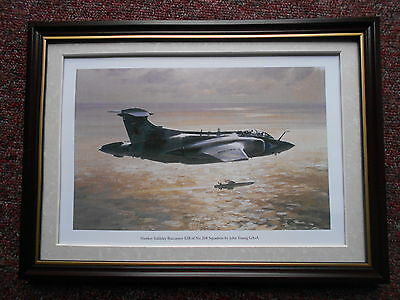 John Young Aircraft print 'Hawker Siddeley Buccaneer S2B of 208 Squadron' FRAMED