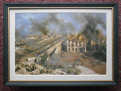 David Shepherd print 'Arnhem' A Bridge Too Far FRAMED