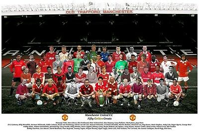 """Team Picture 50 Golden Greats 6 different clubs to choose from 12""""x8"""""""