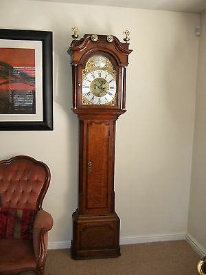 Fine Georgian Oak & Mahogany Longcase Grandfather clock C1760 full working order