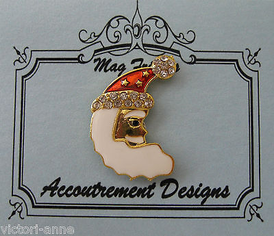 Accoutrement Designs Santa Moon Christmas Needle Minder Magnet