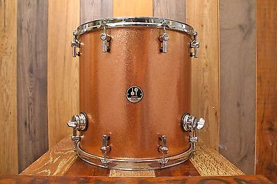 Sonor 16 X 16 Delite Vintage Maple Floor Tom Bright Copper Sparkle Round Badge