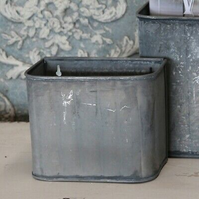 Rustic Zinc Wall Storage box, Magazine LetterRack, Shabby Chic, Large or Small
