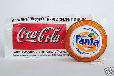 GREAT CONDITION 1999 FANTA PROFESSIONAL Yo-Yo Toy RUSSELL Coca-Cola string pack