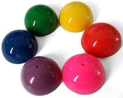 Bulk Lot x 50 Dome Poppers 32mm Bright Colours Kids Novelty Party Favor Toys NEW