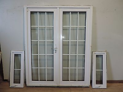 Glazed georgian style french doors picclick uk for Upvc french doors with georgian bar