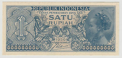 1956 1 Rupiah Indonesia Note Uncirculated 039