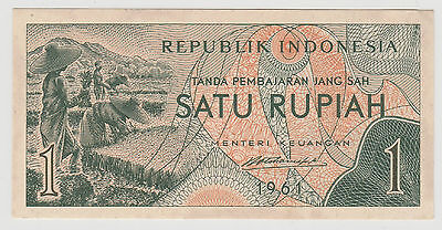 1961 1 Rupiah Indonesia Note Uncirculated 541
