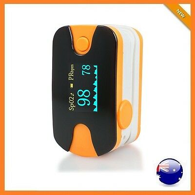 New OLED Blood Oxygen Finger Pulse Oximeter health SPO2 Heart Rate Monitor AU