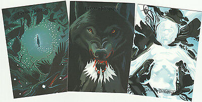 2016 Game of Thrones Season Five Beautiful Death - 3 Card Lot * #'s 23, 25, & 28