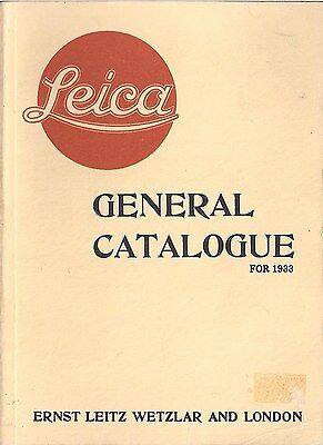 Leica General Catalogue 1933 (German Photographic Equipment)